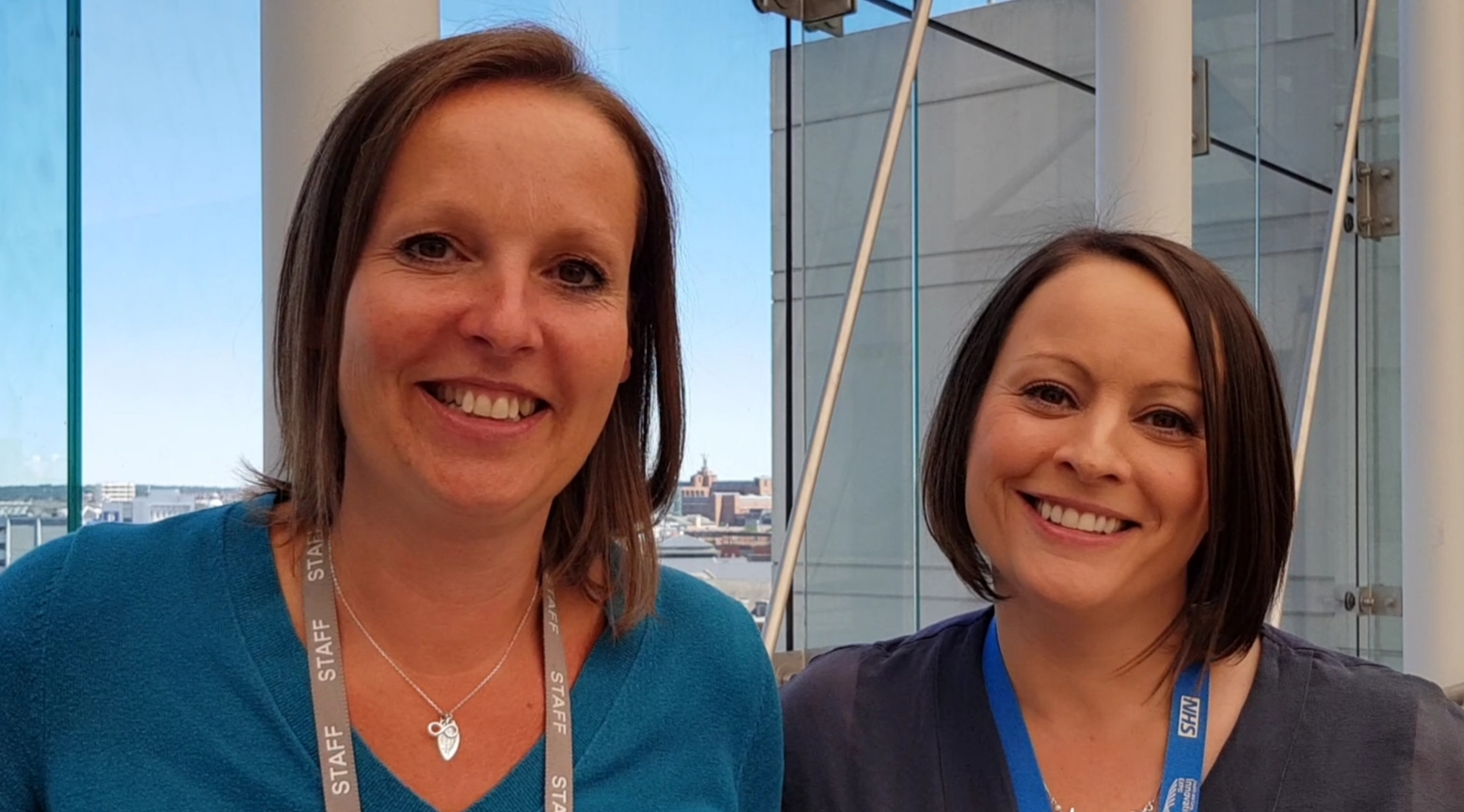 Head and shoulders of Jackie Tatterton and Hazel Jones of the NHS Digital Apps and Wearables programme